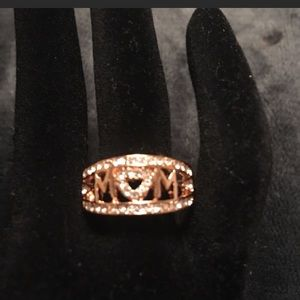 Mom ring rose gold ring with mom written on it